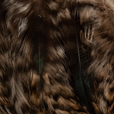 Barred Neck Hackle, Strung - Tan