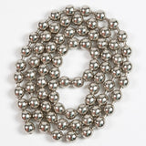 Bead Chain Eyes - Silver