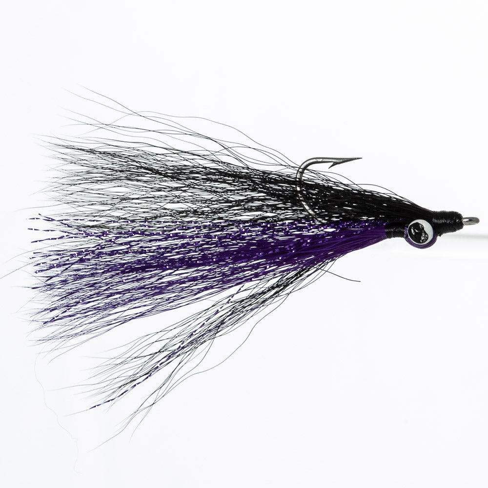 Clouser - Purple/Black, Lead Eye