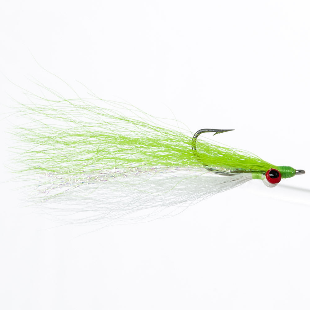 The Clouser Minnow fly.