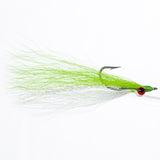 Clouser - Chartreuse/White, Lead Eye