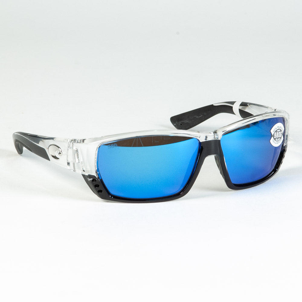 Costa del Mar Tuna Alley Sunglasses - Crystal, Blue Mirror, 580G