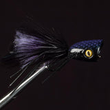 Double Barrel Bass Bug Popper - Black
