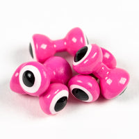 Double Pupil Lead Eyes - Fl Pink/White/Black