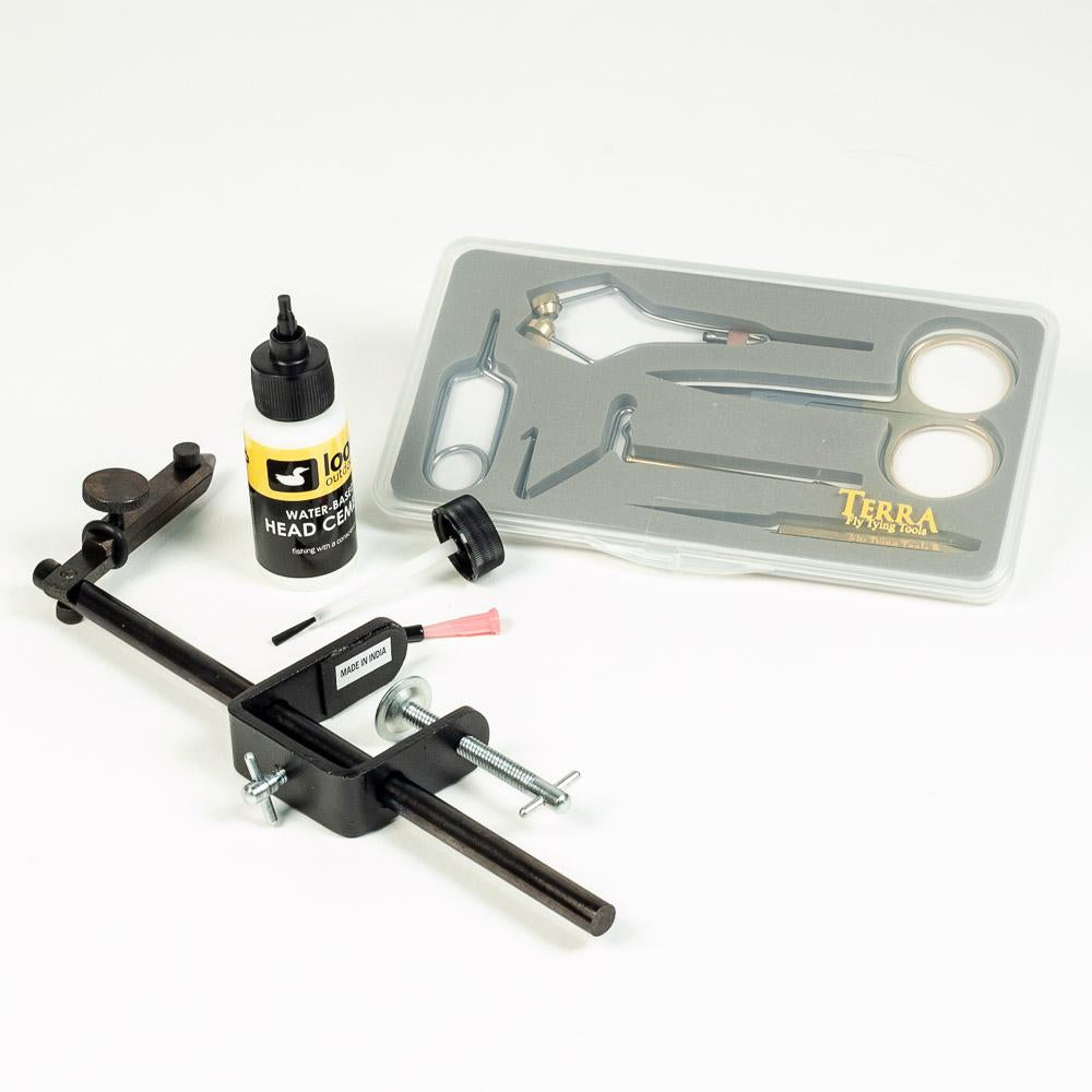 Fly Tying Tool Kit with Starter Tools and Vise