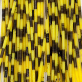 Rainy's Barred Round Rubber Legs - Neon Yellow/Black