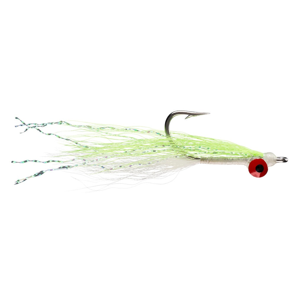 Clouser Minnow - Chartreuse/White