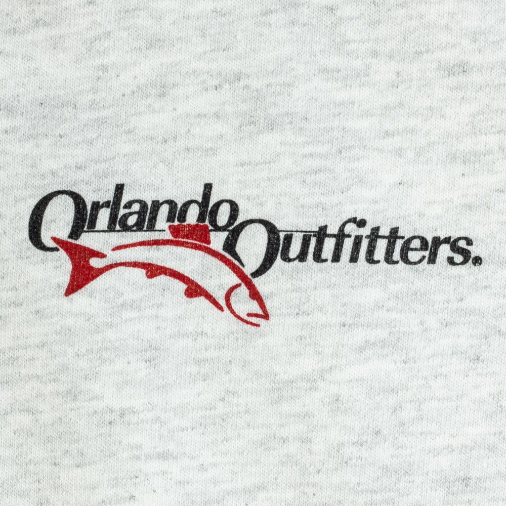 Orlando Outfitters Logo Tee - Ash Gray, Front