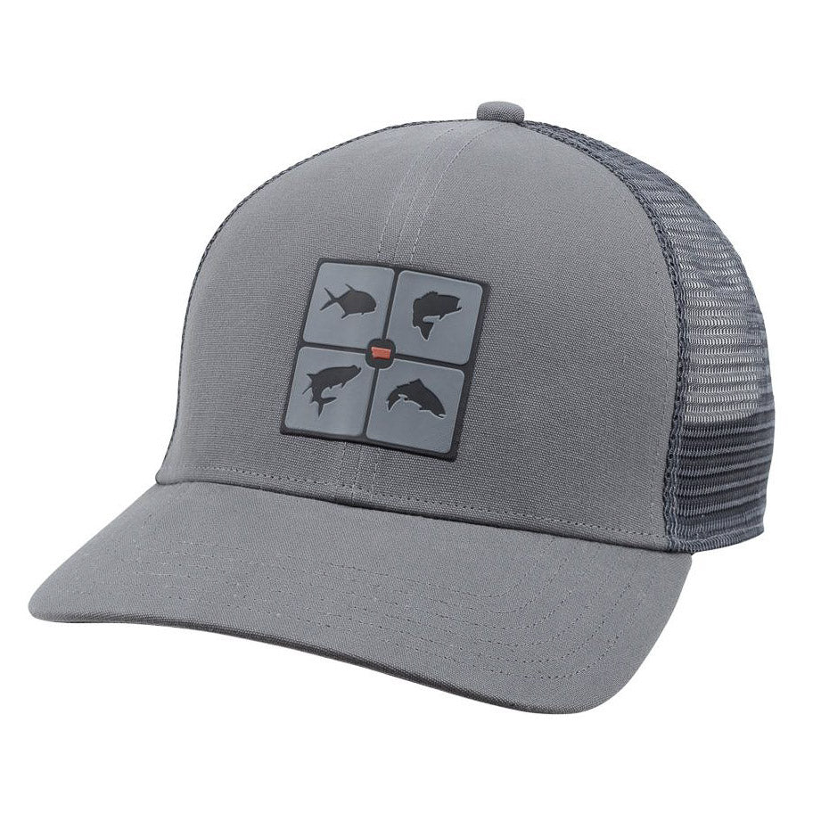 Simms Fish The World Trucker Hat - Anvil