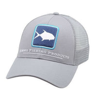 Simms Permit Icon Trucker Hat - Pewter