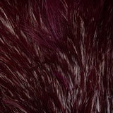 Streamer Rooster Neck - Claret/White