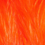 Streamer Rooster Neck - Hot Orange/White