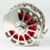 Tibor Signature Fly Reel - Satin Gold/Red, 11/12