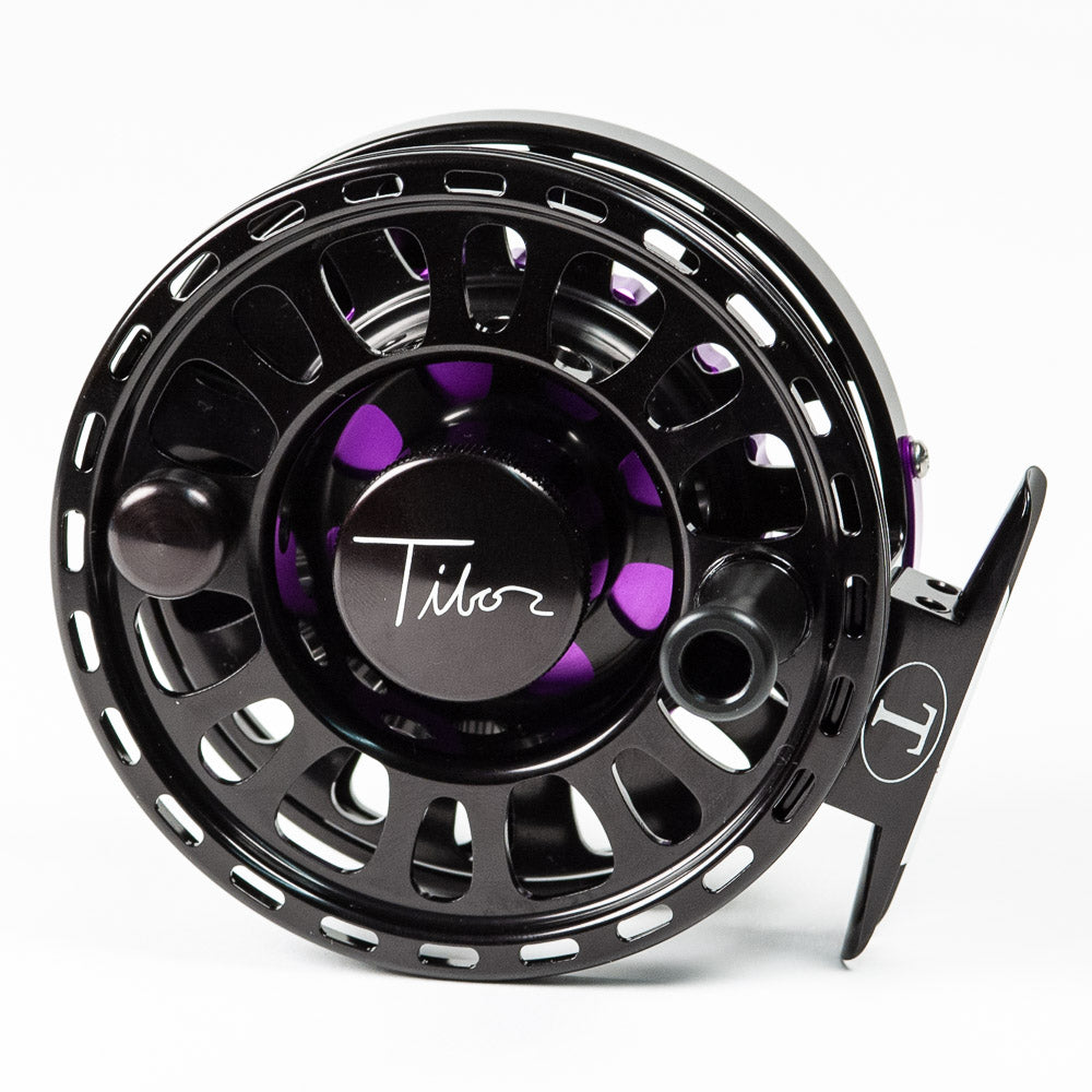 Tibor Signature Fly Reel - Jet Black/Purple, 7/8