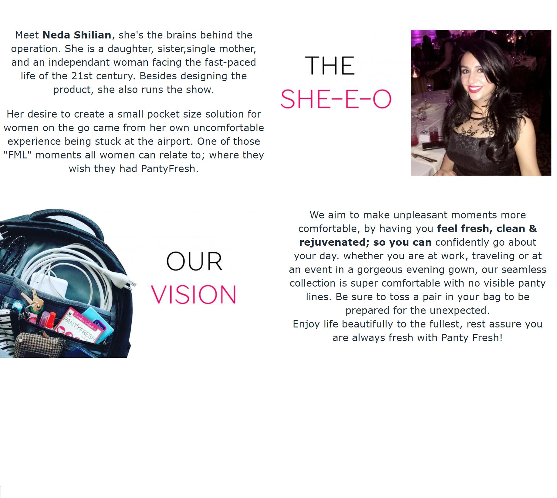 Meet Neda Shilian, the she-E-O and   brains behind PantyFresh