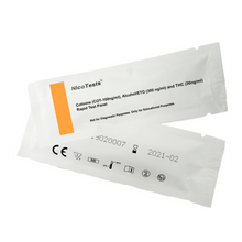 Marijuana, nicotine, and alcohol drug test packaging