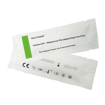 marijuana and nicotine urine test closed packaging