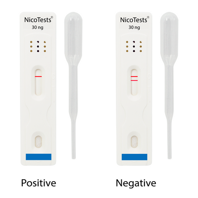 Extra-Sensitive Nicotine Saliva Test Kit with collection cups.