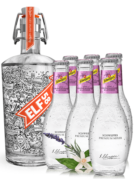 ELF58 Gin + 6 Orange Blossom Lavender Tonics