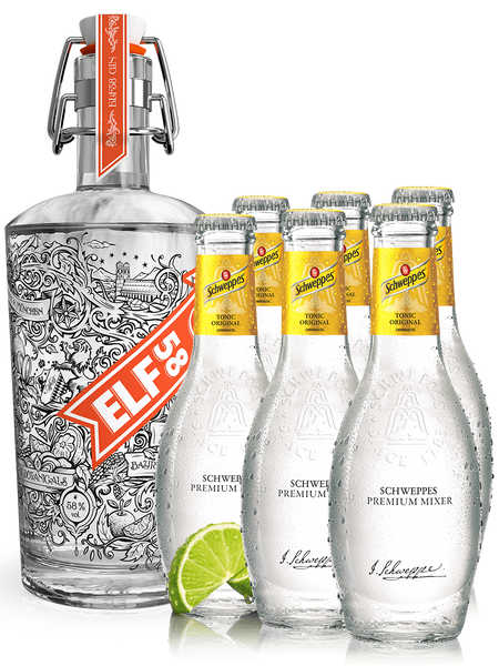 ELF58 Gin + 6 Original Tonics