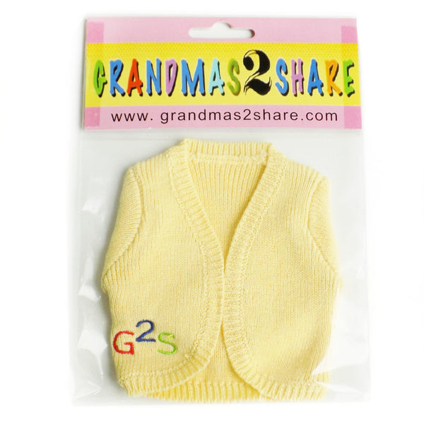 Grandmas 2 Share Yellow Doll Sweater