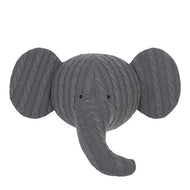 Jollein Elephant Wall Decoration - Grey Cable
