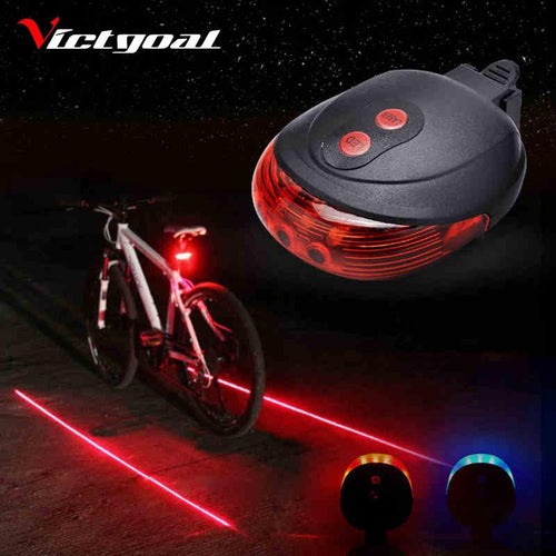 5 LED 2 LASER CYCLING BICYCLE TAIL LAMP - dealsbreak