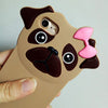 Coque en silicone iphone 3D carlin et carlinette - Carlins & Pug O'carlin