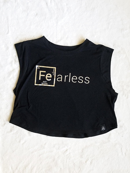 Fearless Sleeveless Cropped Tee