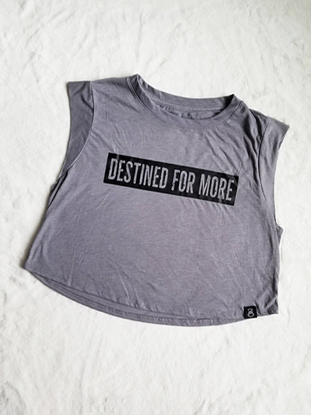 Destined For More Sleeveless Cropped Tee