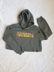Destined For More Cropped Fleece Hoodie