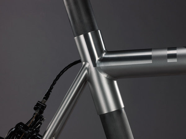 Close up of a bicycle frame