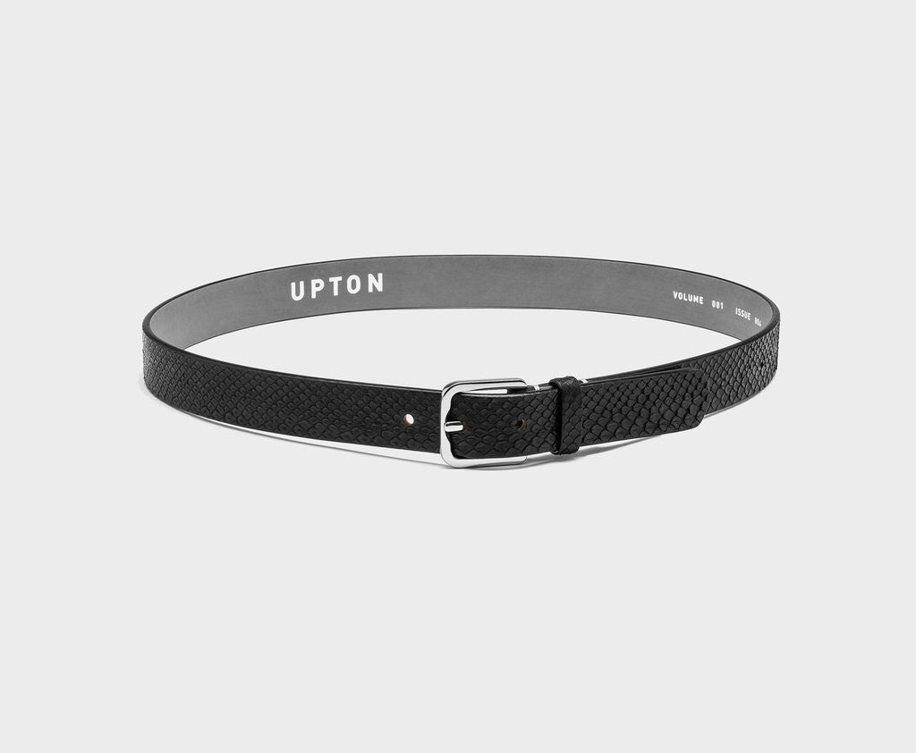 Upton belt - Fifty python black