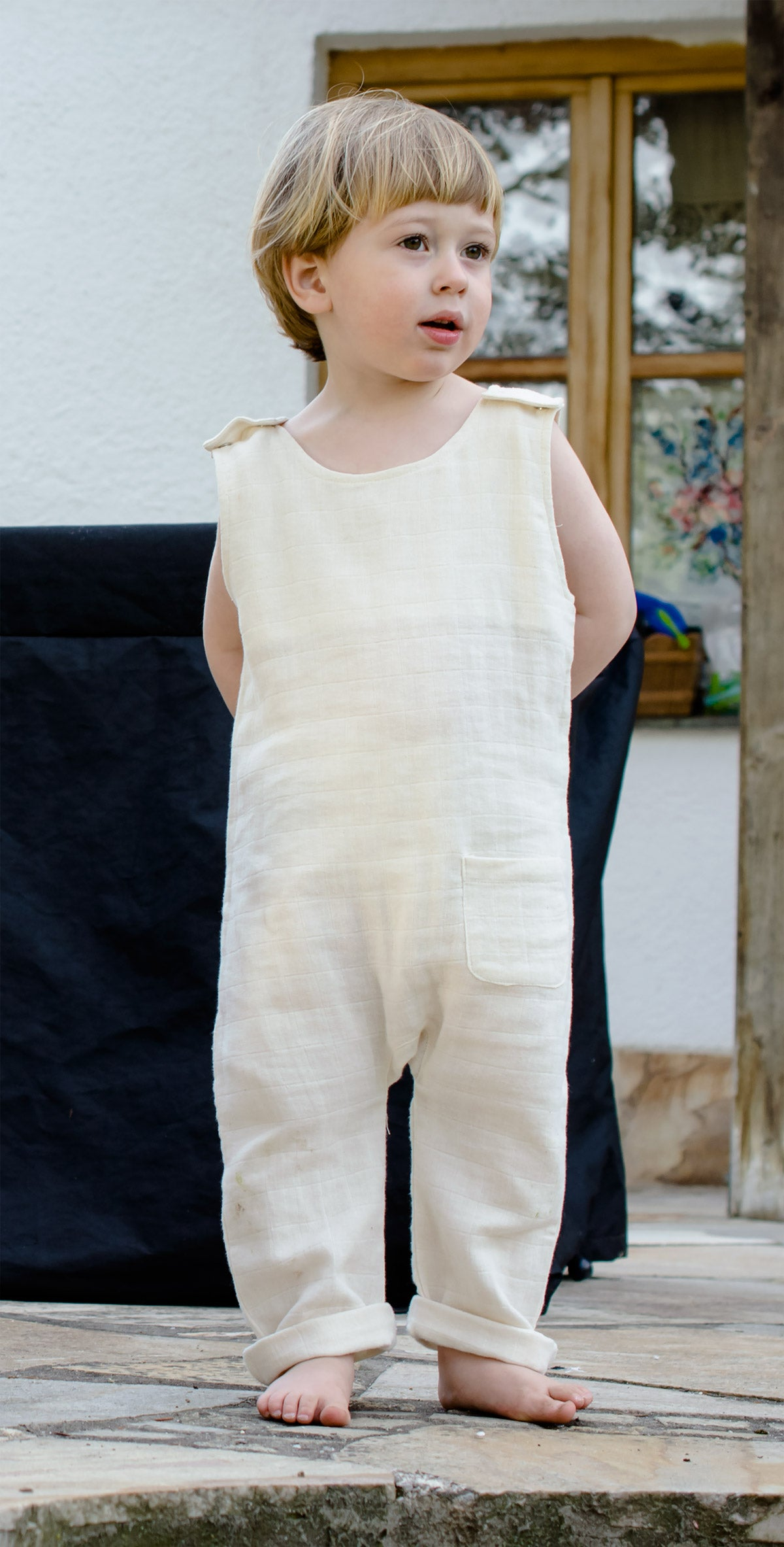 organic by feldman muslin ss20 playsuit kid nature