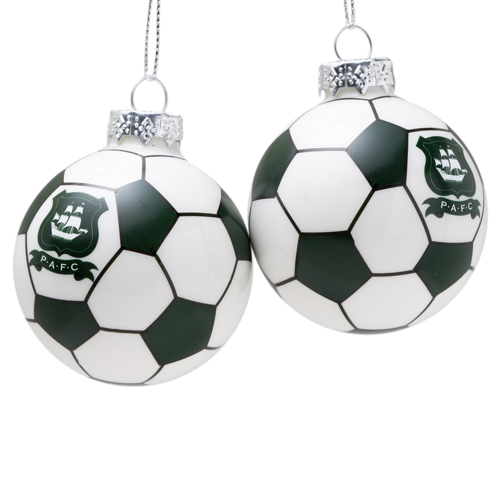 2 Pack Football Baubles
