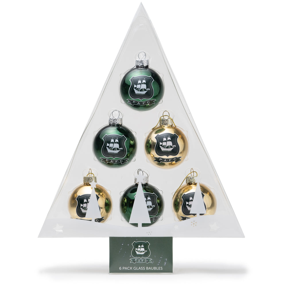 6 Pack Of Classic Baubles