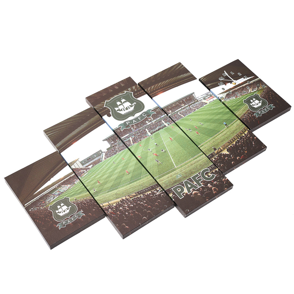 5 Piece Clock Stadium Print