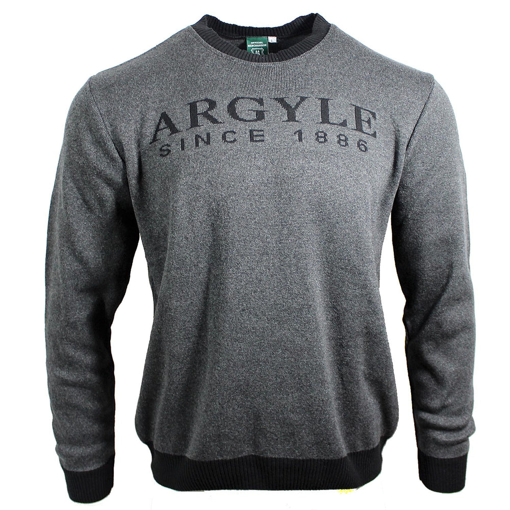 Argyle Text Jumper