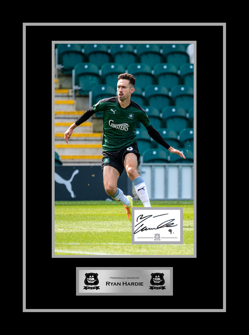 Ryan Hardie Framed Signed  Print