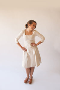 Woman's Oatmeal Bell Dress