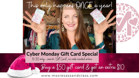 CYBER MONDAY GIFLT CARD SALE
