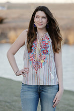 """Merced"" Embroidered Tank Top - Moxie a sass + class boutique 