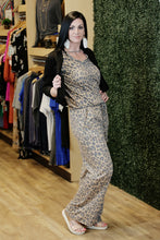 """Cat Call"" Leopard Lounging Jumpsuit - Moxie a sass + class boutique 