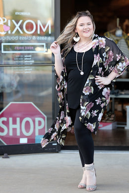 Pretty Floral Duster Kimono - Moxie a sass + class boutique | Wichita, KS