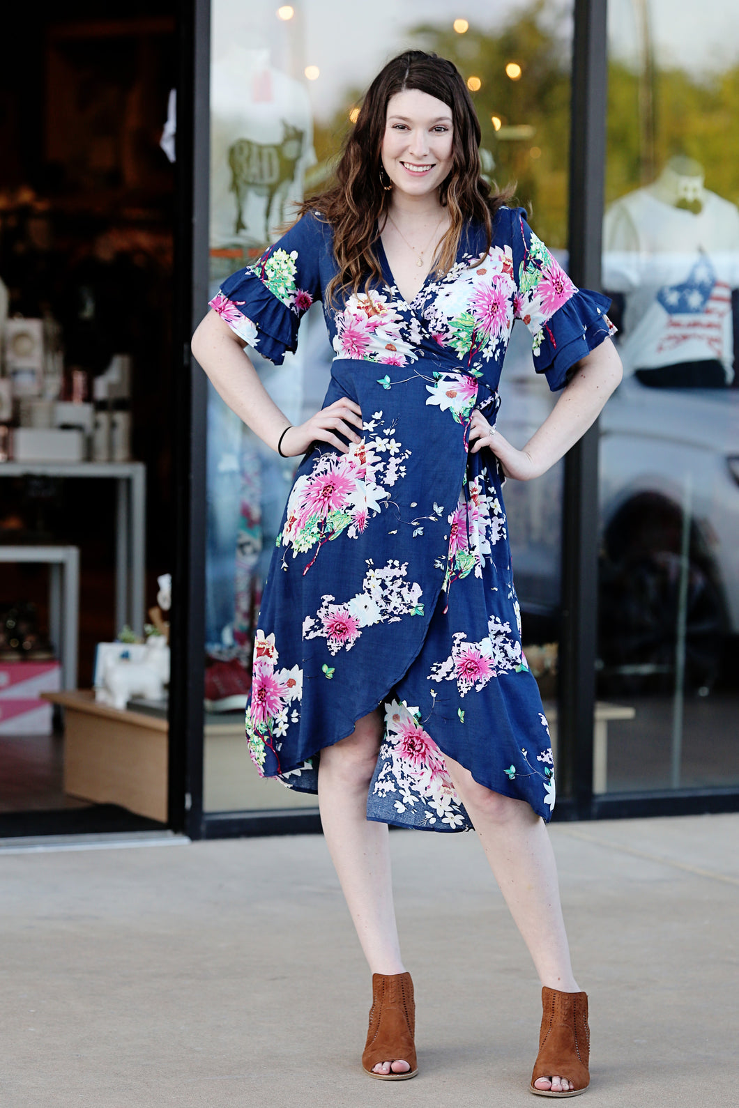 Garden Variety Wrap Dress - Moxie a sass + class boutique | Wichita, KS