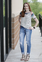 Omberto Short Sleeve Top with Accent Sleeves - Moxie a sass + class boutique | Wichita, KS