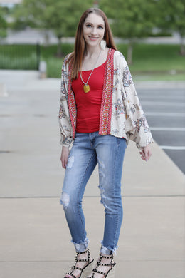 Farha Shorter Kimono - Moxie a sass + class boutique | Wichita, KS
