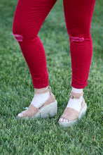 """Cayenne"" Red Skinny Jeans - Moxie a sass + class boutique 