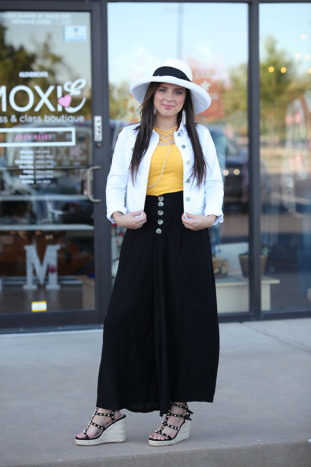 Nancy Wide Leg Pants - Moxie a sass + class boutique | Wichita, KS