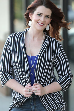 Besos Striped Blazer - Moxie a sass + class boutique | Wichita, KS